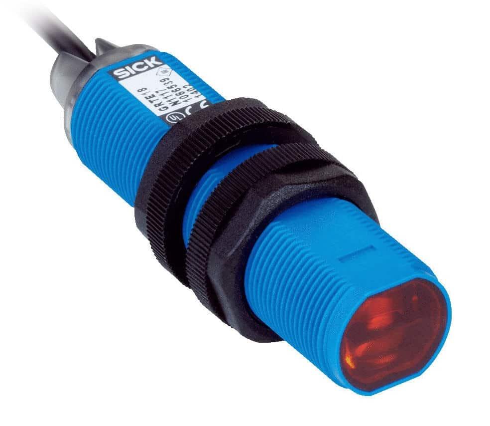 Fotoelektrischer Näherungssensor der Marke SICK