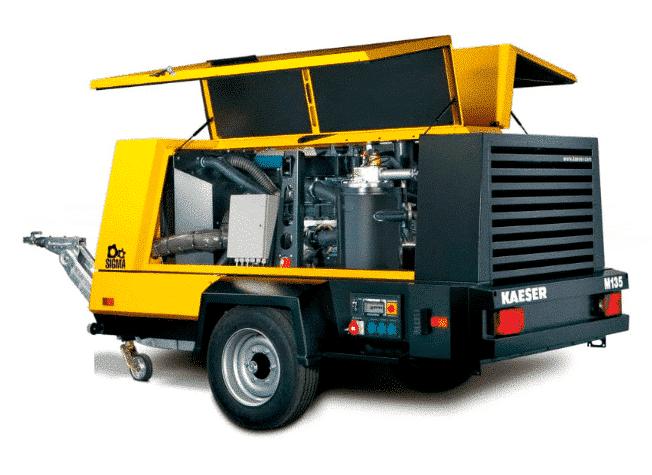 Luftkompressor der Marke KAESER