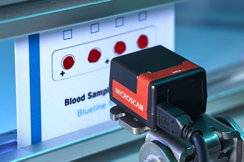 Câmara de visão industrial da marca Microscan