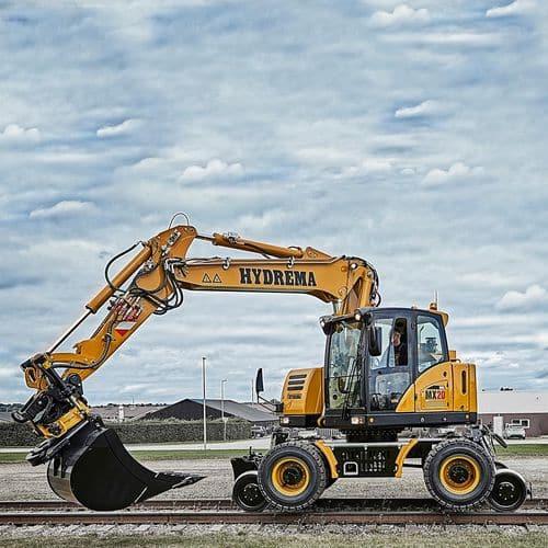 Escavatore intermedio della marca HYDREMA: modello per strada e rotaia per applicazioni ferroviarie