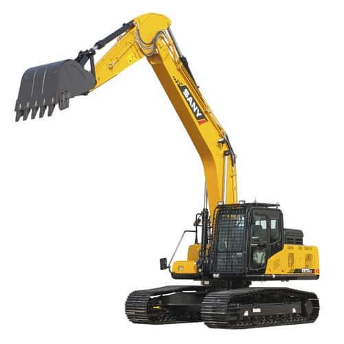 A SANY crawler excavator