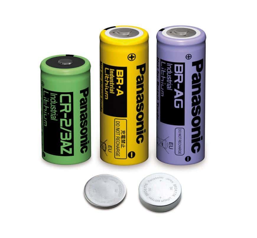 Baterias de lítio da marca Panasonic