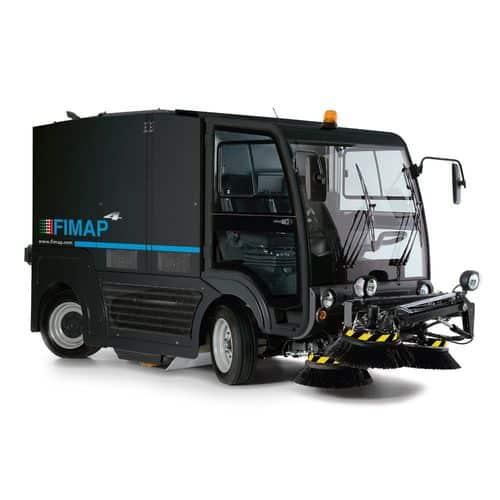 A FIMAP street sweeper