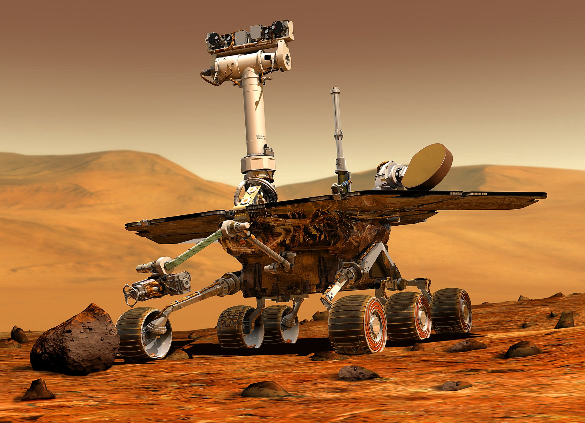 El astromóvil Opportunity en Marte