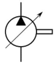 Pompe à 1 sens de flux à cylindrée variable