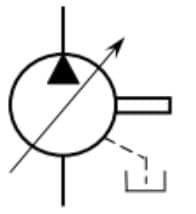Pompe à 1 sens de flux à cylindrée variable avec drain