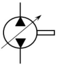 Pompe à 2 sens de flux à cylindrée variable