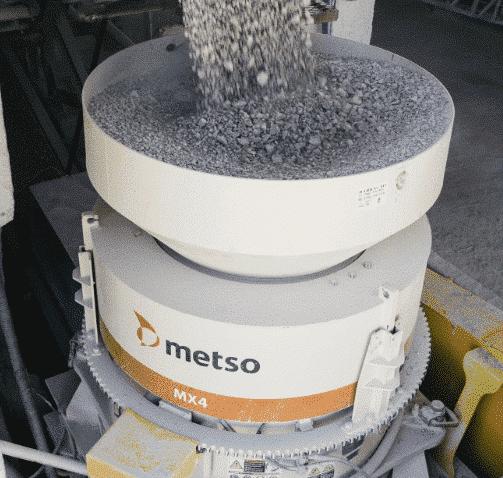 Конусная камнедробилка марки Metso