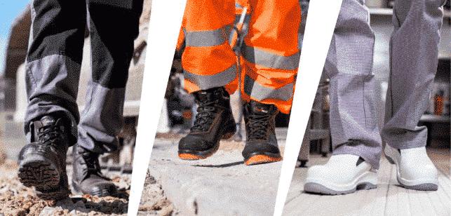 Principales usos del calzado de seguridad