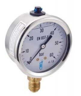 BENE INOXの液体入り圧力計