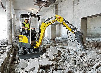 Wacker Neuson EZ17e 100% electric mini excavator