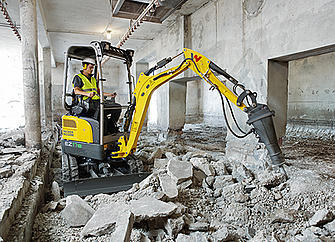 Wacker Neuson EZ17e 100% electric mini excavator